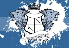 Heraldic lion head coat of arms background6 Royalty Free Stock Photography