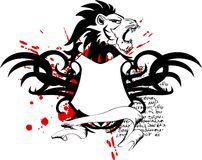 Heraldic lion head coat of arms tattoo2 Stock Photography