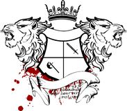Heraldic lion head coat of arms tattoo5 Royalty Free Stock Photography