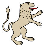 Heraldic lion / illustration Royalty Free Stock Images