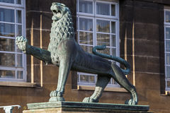 Heraldic Lion at Norwich City Hall Stock Photo