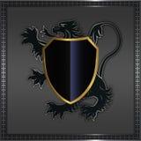 Heraldic lion and shield. Stock Photos