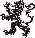 Heraldic lion tattoo Stock Images