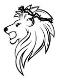 Heraldic lion with thorny wreath Royalty Free Stock Images
