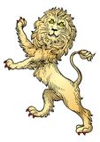 Heraldic Lion vector Stock Image