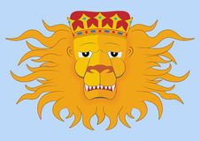 Heraldic lions head Royalty Free Stock Photo