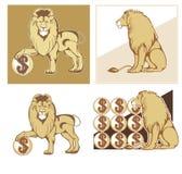 Heraldic lions Royalty Free Stock Photo