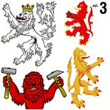 Heraldic Lions vol.3 Stock Photos