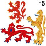 Heraldic Lions vol.5 Royalty Free Stock Photo