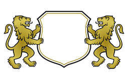 Free Heraldic Lions With Shield Royalty Free Stock Images - 31568379