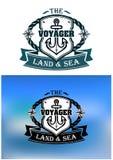 Heraldic marine shield Royalty Free Stock Photo