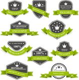 Heraldic medals and emblems with ribbons royalty free illustration