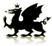 Heraldic medieval dragon Royalty Free Stock Image