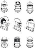 Heraldic medieval helmet set. In vector format very easy to edit Royalty Free Stock Image