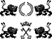 Heraldic monsters Royalty Free Stock Images