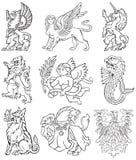 Heraldic monsters vol VIII Stock Photos