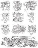 Heraldic monsters vol X Stock Photos