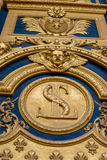 Heraldic motifs front door to Les Invalides. Paris, France Stock Photography