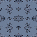 Heraldic pattern in blue color. Stock Images