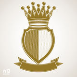Heraldic royal blazon illustration - imperial striped decorative Royalty Free Stock Images
