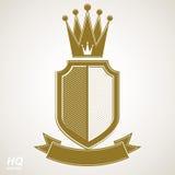 Heraldic royal blazon illustration - imperial striped decorative Stock Photo
