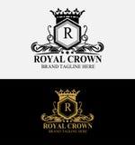 Heraldic Royal Crest Crown Logo Stock Photos