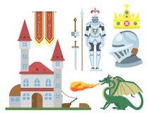 Heraldic royal crest medieval knight elements vintage king symbol heraldry castle badge vector illustration Stock Image