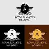 Heraldic Royal Crest Vector Logo. Design for minimalist and modern logo. Simple work and adjusted to suit your needs Royalty Free Stock Image