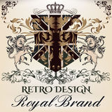 Heraldic Royal design of logotype in antique style with crown, u Stock Images