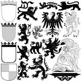 Heraldic Royal elements Royalty Free Stock Image