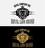 Heraldic Royal Lion Crest Logo Stock Photography