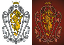 Heraldic royal lion Stock Photo