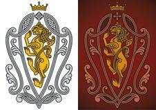 Heraldic royal lion Stock Photo