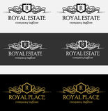 Heraldic Royal Luxurious Crest Logos Stock Images