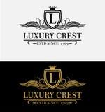 Heraldic Royal Luxury Crest Logo Stock Photography