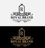 Heraldic Royal Luxury Crest Logo Stock Photos