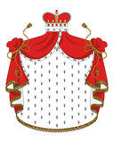 Heraldic royal mantle Royalty Free Stock Image