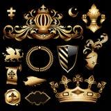 Heraldic royal set Stock Image