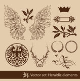 Heraldic set Royalty Free Stock Photography