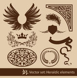 Heraldic set Stock Photography