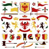 Heraldic set colored Stock Photos