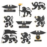 Heraldic set Stock Photos