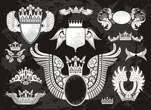 Heraldic set with wings Royalty Free Stock Photo