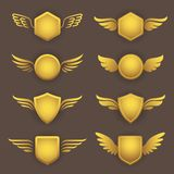 Heraldic shapes with wings Stock Image