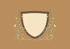 Heraldic sheld. Vector Illuctration of Heraldic sheld with floral Decorative ornament Royalty Free Stock Photography
