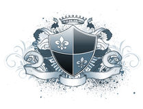 Heraldic shield royalty free illustration