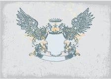 Heraldic shield Stock Photo
