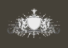 Heraldic shield Stock Photos