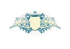 Heraldic shield Royalty Free Stock Images