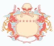 Heraldic shield stock illustration